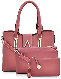 Mark & Keith Women's Handbag With Sling Bag & Pouch (Purple,Mbg 0419 Ppl)