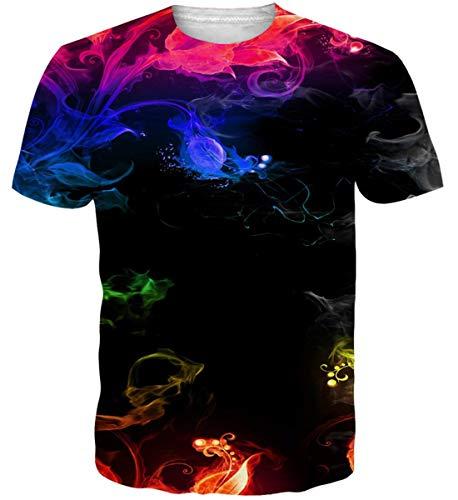 92905c57 Idgreatim Donna Uomo Universo Cielo Stellato 3D Stampa T-Shirt Manica Corta  Casual Top Tees