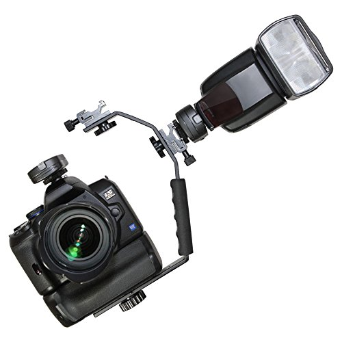 DSLR Blitzschiene Blitzhalter Wambo Winkelschiene Seitliche Beleuchtung Flash Bracket