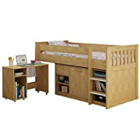Seconique Merlin Study Bunk in Oak Effect Veneer