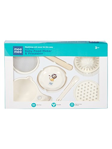 Mee Mee Baby Food Maker and Processor, White