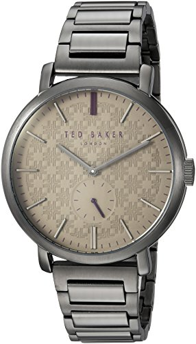 Ted Baker Men's 'TRENT' Quartz and Stainless-Steel-Plated Casual Watch, Color:Grey (Model: TE15193010)