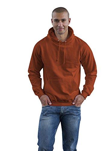 JH001 College Hoodie Kapuzenpullover Sweatshirt Kapuzensweatshirt, Farbe:Burnt Orange;Größen:L L,Burnt Orange (Burnt Hoody Sweatshirt Orange)
