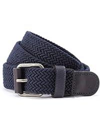Timberland ceinture hommes ceinture de tressé bleu 4153, Farbe:blau;Timberland Größen:95 (Herstellergröße 38 cm)