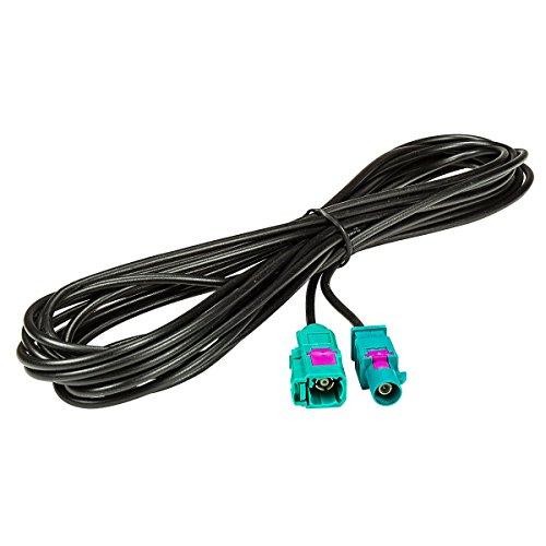 fakra kabel tomzz Audio 1600-011 Fakra Antennen-Verlängerung 5m Fakra Stecker auf Fakra Buchse, Kabel RG174, Typ Z