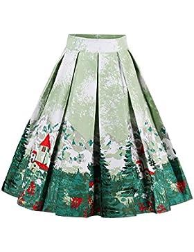 Botomi Plisado una Linea De Swing Flare Vintage Mujer Faldas