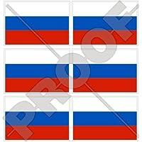 Russia bandiera Russia–40mm (40,6cm) per telefono cellulare mini adesivi in vinile, decalcomanie X6
