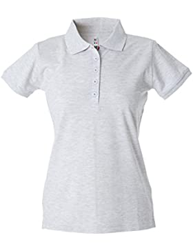 CHEMAGLIETTE! Polo Donna Manica Corta Cotone piquet Maglia T-Shirt con Colletto JRC Colombia