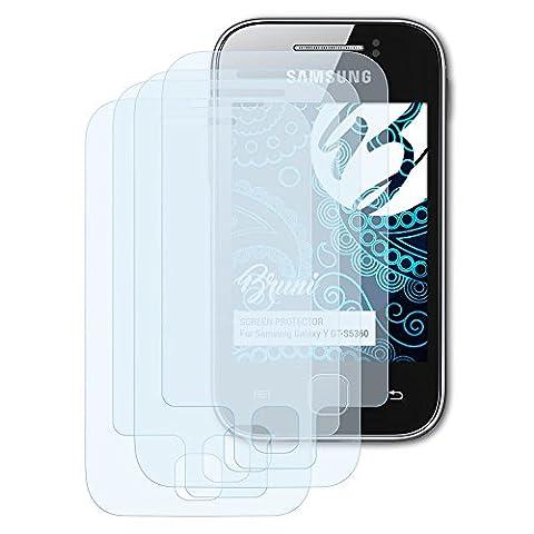 Bruni Samsung Galaxy Y (GT-S5360) Folie - 2er Set glasklare Displayschutzfolie Schutzfolie für Samsung Galaxy Y (GT-S5360)