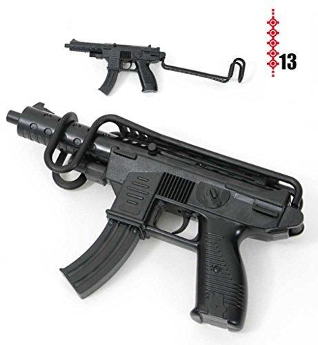 KarnevalsTeufel Spielzeug Gewehr - Uzi mit Armstütze (13er-Streifen Munition) ca. 29cm Länge -