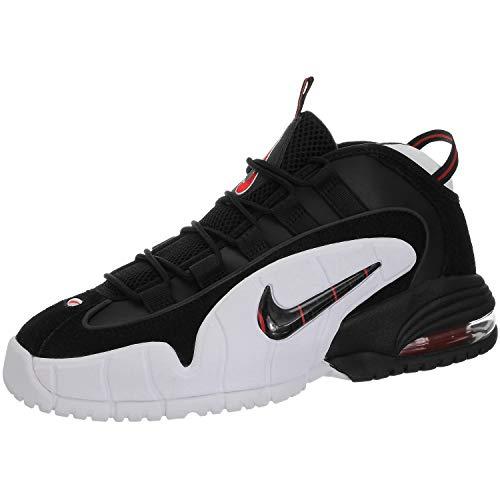 Nike Herren Air Max Penny Basketballschuhe, Mehrfarbig Black/White/University Red 003, 40.5 EU -