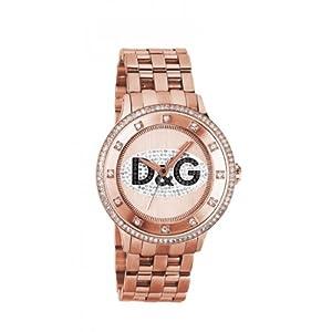Reloj Dolce & Gabbana DW0847 de cuarzo para mujer con correa de acero inoxidable, color rosa de Relojitos Euromediterránea
