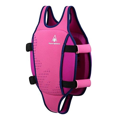 Aquasphere Unisex Jugend Swim Vest Schwimmweste Pink Large (3-6Y)