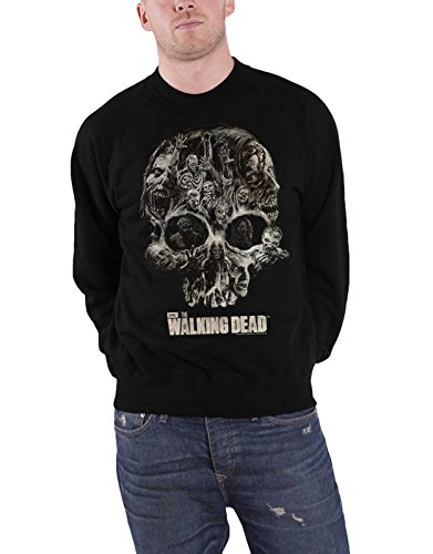 The Walking Dead Walking Dead Sweatshirt Walker Skull Logo Official Mens Black