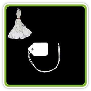 100 étiquettes blanches avec ficelle-Tickets 27 x 18 mm Etiquettes de prix String Swing étiquettes 27 mm x 18 mm