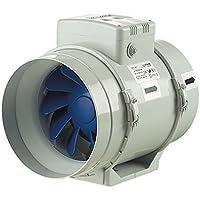 Blauberg Reino Unido turbo-200-t Blauberg Turbo flujo mixto en línea ventilador Extractor con temporizador de correr en 200mm 1gris