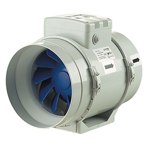 Blauberg UK Turbo-100Estrattore d'aria in linea a flusso misto, 100mm, 1 pz, coloregrigio, grigio, TURBO-200