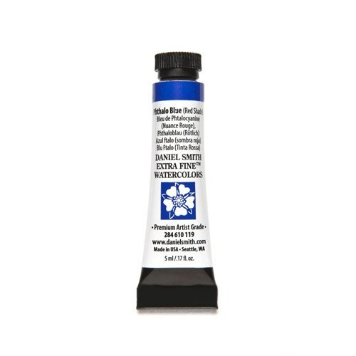 Daniel Smith Watercolour 5 ml Tube (S1) - Phthalo Blue (Red Shade) (119) by Daniel Smith - Red 5 Ml-tube