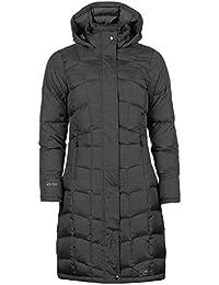 Karrimor Womens Long Down Jacket Coat Top Chin Guard Hooded Zip Full Fur Trim