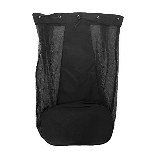 MagiDeal Balltasche/ Ballsack / Ballnetz für 15 oder 25 Bälle, Schwarz - Einzelne Schulter 15 Bälle
