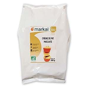Crema di Riso Bio precotta - Riso Integrale - ideale per i Neonati | 250 g | Markal