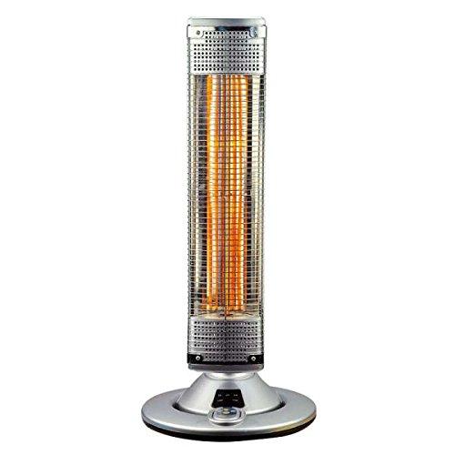 VINCO - 70180 VIN70180 - Estufa orientable de Fibra de Carbono, Color Gris, 32,5 x 32,5 x 75,5 cm