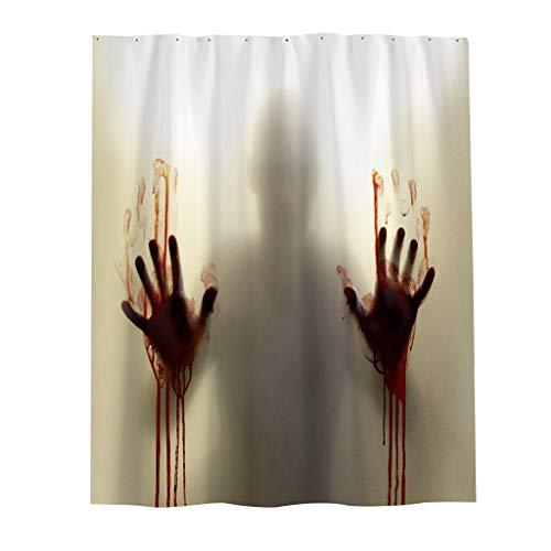 Duschvorhang Kostüm - Myspace 2019 Neueste Dekoration für Halloween 3D Digitaldruck Blut Hand Wasserdicht Mehltau Duschvorhang