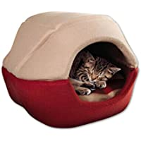 NWYJR Grotta di forma Kennel Pet Home impermeabile Extra spessore caldo accogliente antivento Kennel gatto e cane casa , beige