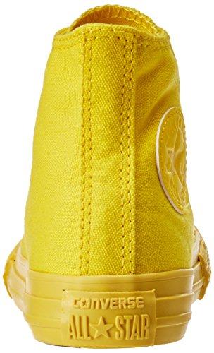 CONVERSE - Scarpa Sneaker rossa stringata, in tela, scarpa sportivo casual, Bambina, Donna Giallo