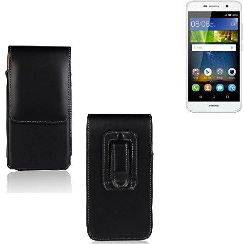 K-S-Trade Für Huawei Y6Pro LTE Gürtel Tasche Gürteltasche Schutzhülle Handy Tasche Schutz Hülle Handytasche Smartphone Case Seitentasche Vertikaltasche Etui Belt Bag schwarz für Huawei Y6Pro