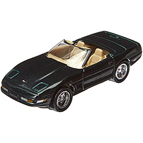 Johnny Lightning Corvette 50th Anniversary Series 1996 Convertible BLACK 41/50 by Playing Manits - 1996 Corvette