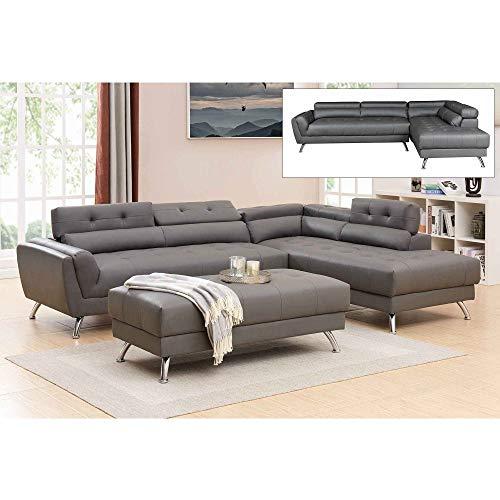Decoinparis alison - divano angolare imbottito, angolo destro