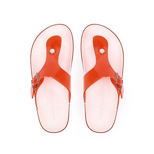 Ideal Shoes Neckholder-Füße aus Kunststoff mit Elise Koppel Rot - rot