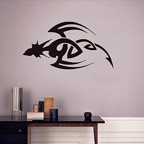 Waofe vinile rimovibile art tribal dragon dagger wall stickers pvc rimovibile decalcomanie per lacasa home decor per bambini camere 81 * 44 centimetri