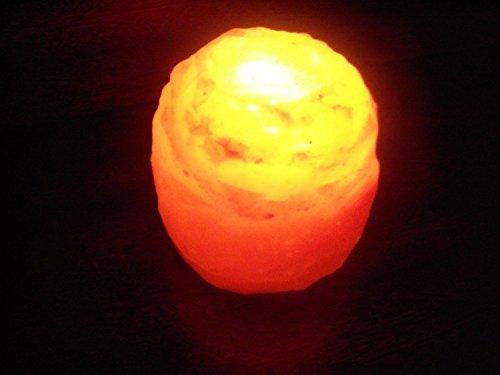 Lumini portacandele in cristalli di sale himalayano