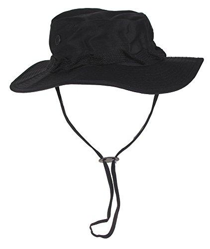 MFH Buschhut US mit Kinnband GI Boonie Rip Stop,  L,  Schwarz Schwarze Outdoor Hut