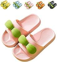 NADARDA Boys Girls Slide Sandals, Cute Sapling Kids Slippers Outdoor Beach Pool Sandal Soft (Toddler/Little Ki