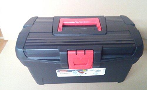 Curver 193600194289Werkzeugkoffer Herobox OPP Toolbox Polypropylen Zoll 13schwarz/rot