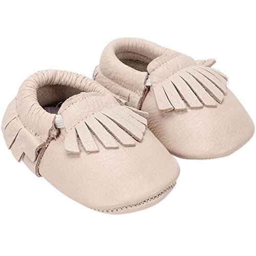 Fire Frog  Baby Genuine Leather Shoes, Baby Mädchen Lauflernschuhe Beige