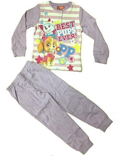 Pijama niña Paw Patrol Manga Larga Algodón Interlock * 24451 Lilla 7 años