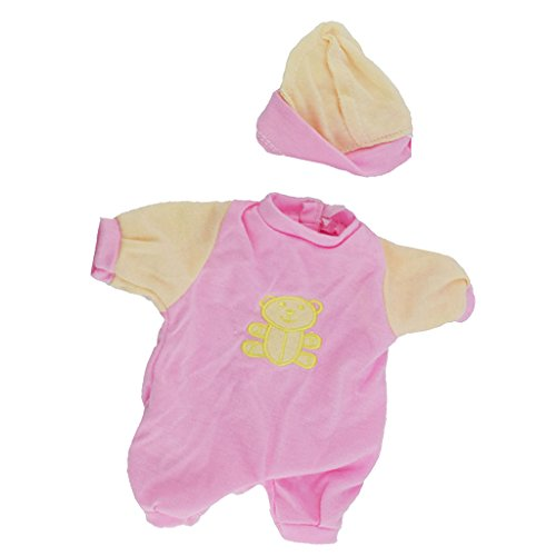 Baoblaze Schöne Babypuppe Kleidung Strampler Jumpsuit Outfit für 9-11 Zoll Mellchan Baby Doll Dress up - # 2