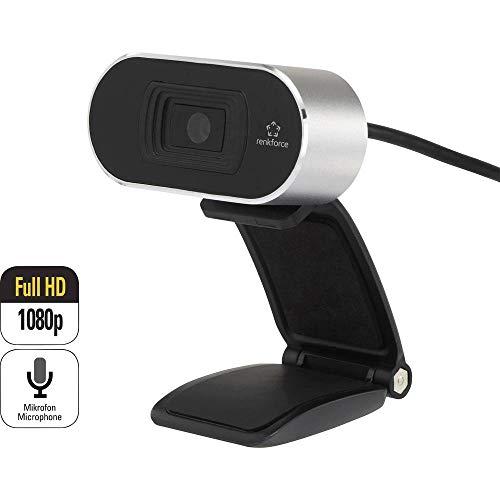 Renkforce RF-WC-1080P Full HD-Webcam 1920 x 1080 Pixel Klemm-Halterung