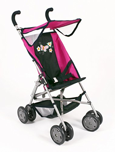 Bayer Chic 2000 623 12 - Puppen-Buggy Vita, Dots Navy-rosa