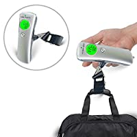 USTONE DigitalLuggageScale, Portable Travel Suitcase Scales with Straps and Batteries, Weights for Bag, Travel