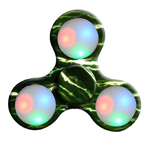 Preisvergleich Produktbild Erwachsene Spielzeug LED Licht Fidget Hand Spinner Fidget Spielzeug Finger Ball für Autismus Suffer Langeweile Stress Reducer Spielzeug (E)