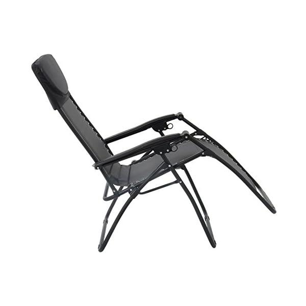 Azuma Padded Zero Gravity Chair - Charcoal