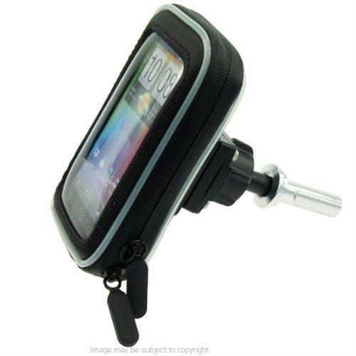 Motorrad 19mm Gabel Vorbau Halterung mit wasserdichtem smartphone-fall PASST HTC EVO 3D (SKU 11361) (Htc Evo Fällen)