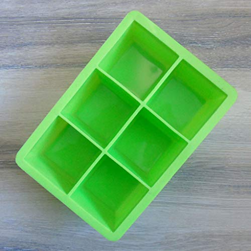 Loparker Wunderbarer Cubed Ice Maker Große Cube Square Tray Molds Whiskey Ball Cocktail Silicon Big(None Green)