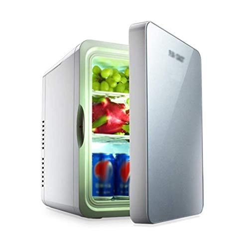Kievy Kühlschrank Mini Kühlschrank Kühler & Wärmer | 22L Portable Car Cool und Warmes Zuhause Elektrische Kühlbox (Color : Silver)