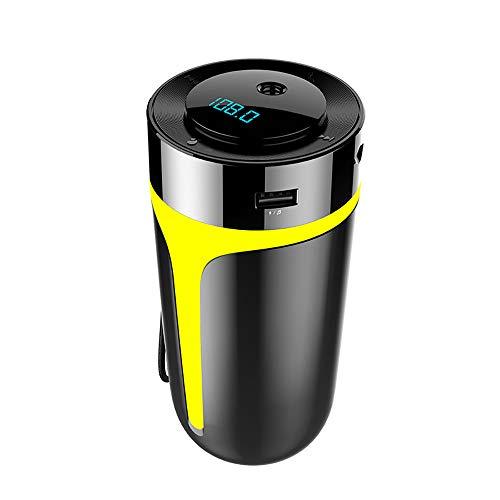 YHML 5 V 2.1A Auto Luftreiniger mit Ladegerät QC3.0 FM Transmitter Bluetooth Musik Player AUX Kit für Home Office Negative Ionen Nano Luftbefeuchtung Luftreiniger